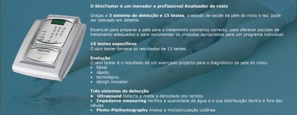 Equipamento Skin Tester – Analizador de Pele do Rosto, Diagnostico da Pele