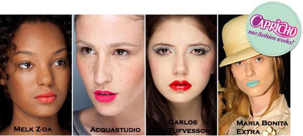 Maquiagem Verão 2011 – Cores de Batom, Sombra e Blush