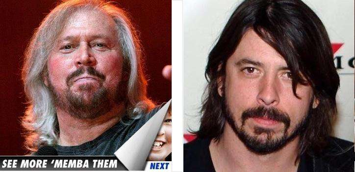 Barry Gibb (Bee Gees) – Dave Grohl (Foo Fighters)