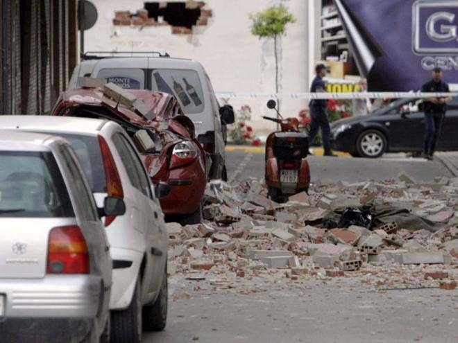 Sismo em Espanha – Lorca, Murcia (Fotos)