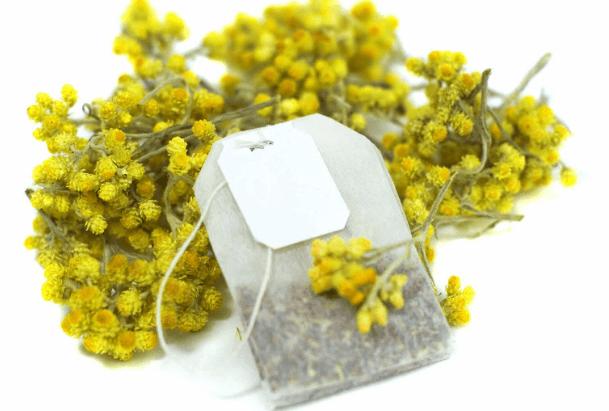 Bolsas De Chá De Camomila E Flores