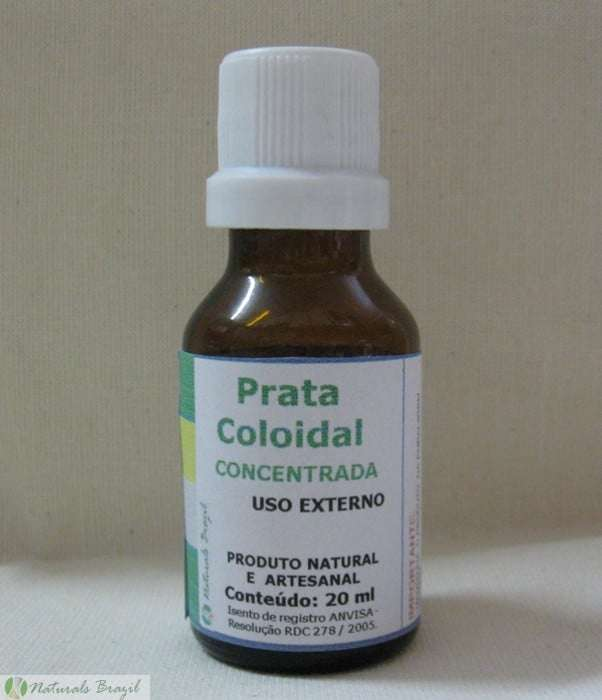 Prata coloidal uso externo
