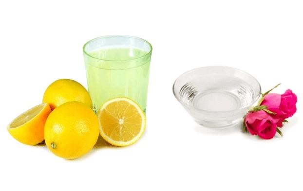 Com Suco De Limão E água De Rosas Para Acne