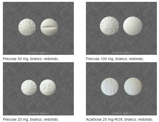 Acarbose 25 mg 50 mg 100 mg