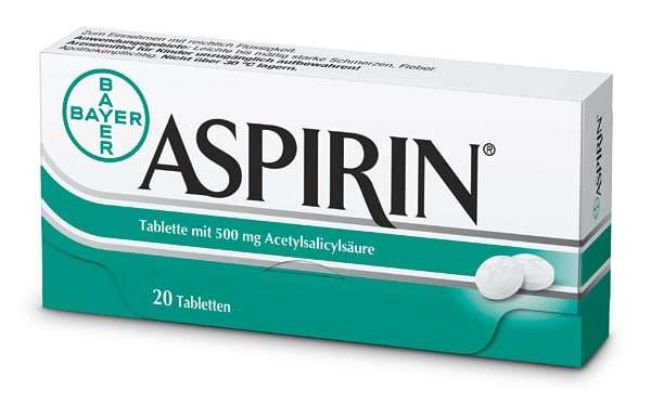 Embalagem de ácido acetilsalicílico (AAS)