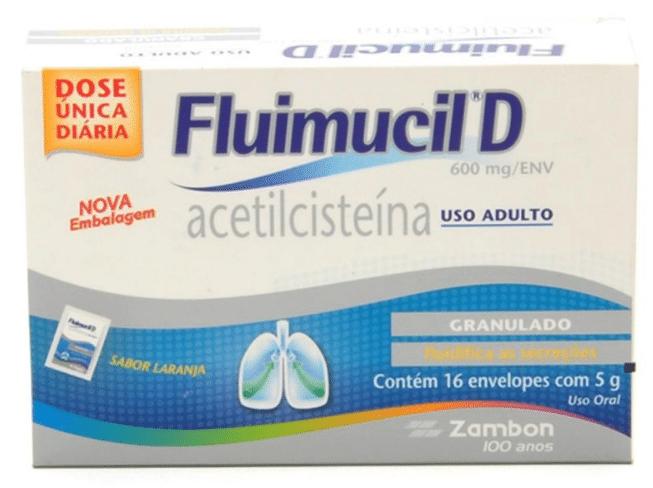 acetilcisteína fluimucil