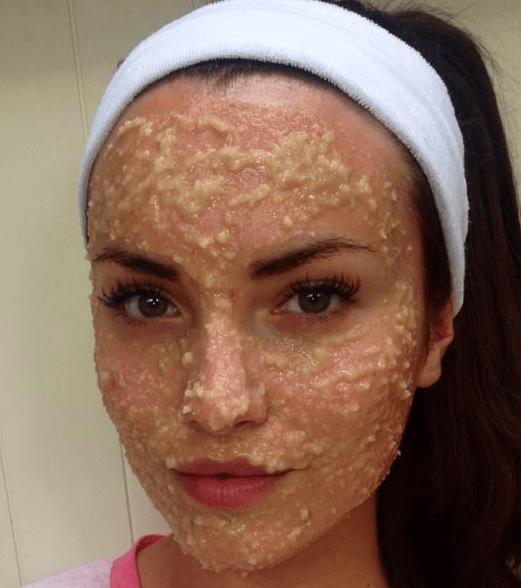 Máscara Facial De Amêndoa E Mel