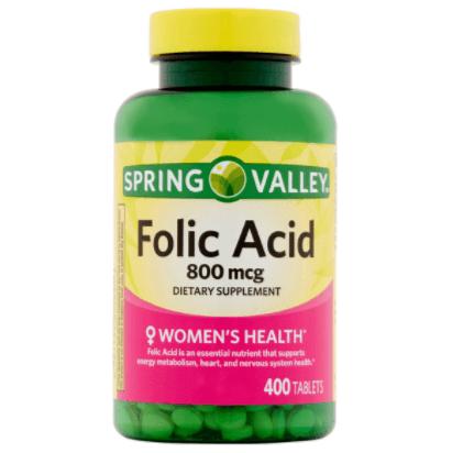 Suplemento De ácido Fólico Em Cápsulas