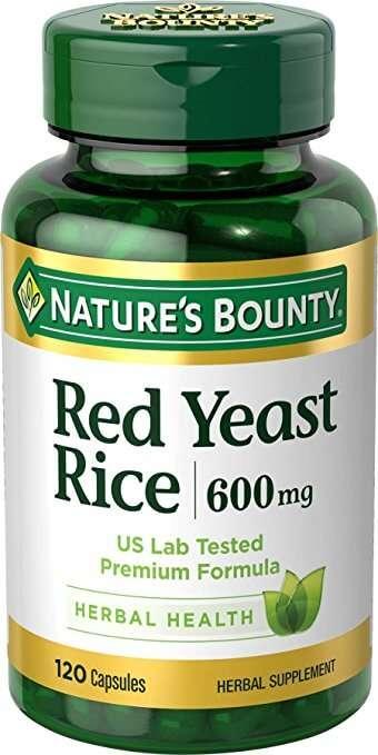 Suplemento Nature Bounty De Arroz Vermelho Fermentado Com 120 Cápsulas De 600 Mg