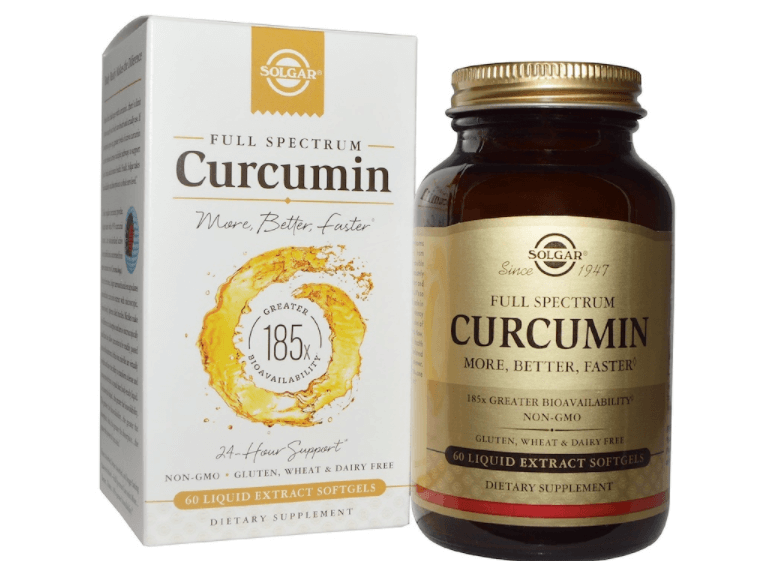 Suplemento De Curcumina Solgar, Full Spectrum, 60 Cápsulas De Extrato Líquido