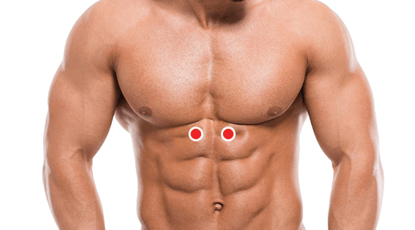 Ponto De Pressão Logo Abaixo Do Peito, Abdominal Superior