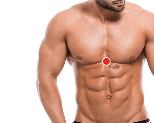 Ponto De Pressão No Centro Do Peito